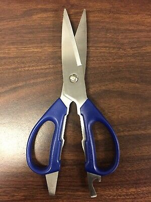 Chicago Cutlery Kitchen Stainless Steel Blue Handle Scissors Deluxe Shears New