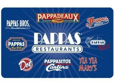 $50 Pappadeaux Seafood Kitchen gift card - can use at any of the 8 brands.