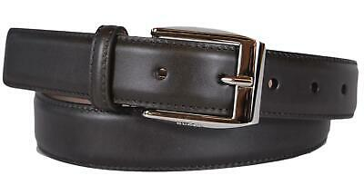b9b7c99862d New Gucci Men s Smooth 336831 Dark Brown Leather Logo Buckle Belt 36 90