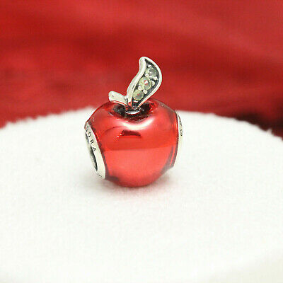 51b0b86ec Authentic Pandora Silver Disney Snow White's Apple Charm Bead 791572EN73
