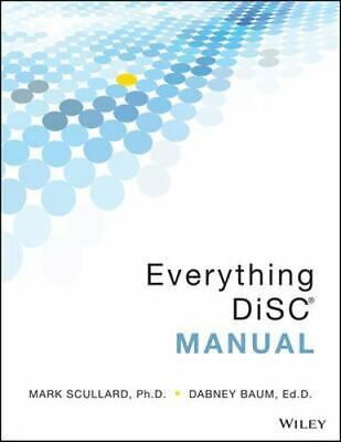 NEW Everything DiSC Manual By Mark Scullard Paperback Free Shipping