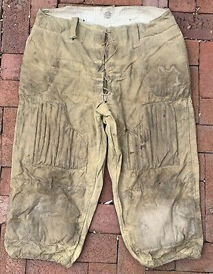 Antique Very Large Pair of 1900 - 1904 Spalding Reed Padded Football Pants Old