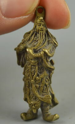 Collect China Copper Carve General Guan Yu Rare Delicate Pendant Amulets YER