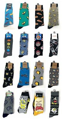 Men's or Teens Novelty Casual Crew Socks Character Or K Bell Funny Print 10-13