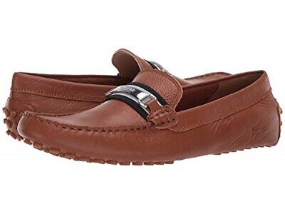 Lacoste Mens Ansted 318 Leather Slip On Loafer Driving Moccasins Shoes BHFO 8046