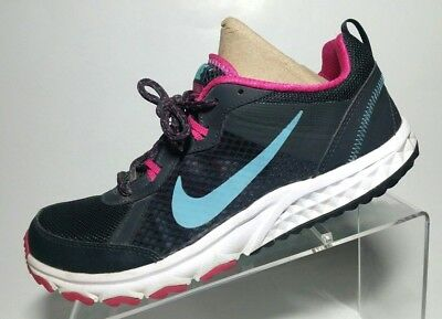 info for 1e669 bee9e Nike Wild Trail Womens Running Shoes Size 9.5 643074-001 Gray White Pink  Blue