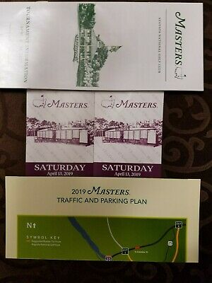 Two(2) Masters Tickets 2019 - Saturday, April 13th