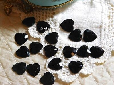 (385)*costume Makers Sellout*flat Back Jewels*hearts*black*new!*