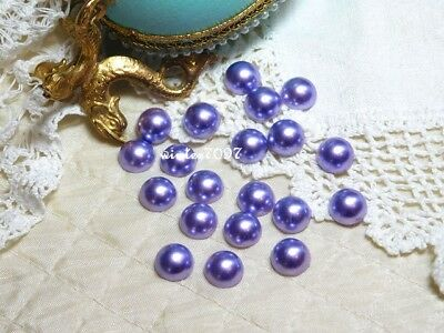 (189)*Costume Makers Sellout*Flat Back Pearl Jewels*Round*Mauve*New!*