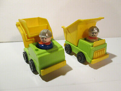 Fisher Price Little People Play Family construction dump truck forklift loader