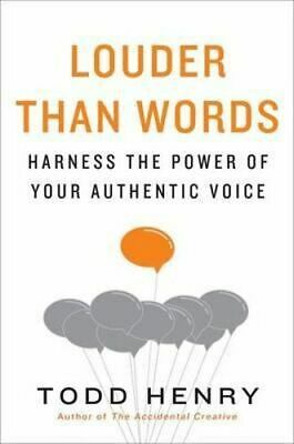 NEW Louder than Words By Todd Henry Hardcover Free Shipping