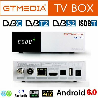 GTMEDIA GTC Android 6.0DVB-S2/T2/C/ISDB-T Built-in Wifi Bluetooth S905D TV Box
