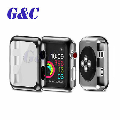 For Apple Watch Series 3/4 Full Body Cover Snap-on Case with Screen Protector