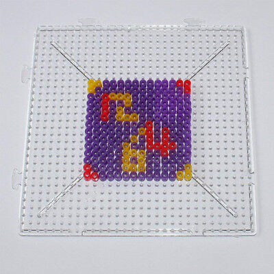 Clear Square Hexagon Round Large Pegboards Board for Hama Fuse Beads Kids Toy B