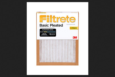 73d4646784f SALE FILTRETE 3-PACK Basic Pleated Pleated Air Filters (Common  20 ...