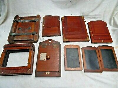 Vintage Wooden Camera Plates A Collection Of 9 Assorted Items