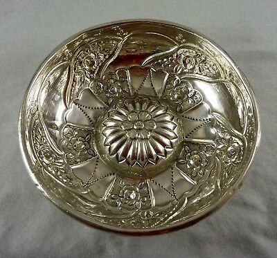 Fabulous Antique Estate Silver Plated Pudding Jelly Custard Mould 1910'S