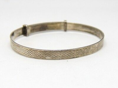 Adjustable, Silver, Baby Bangle