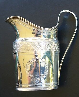 Antique Silver Jug with Geometric Frieze Pattern London c1796