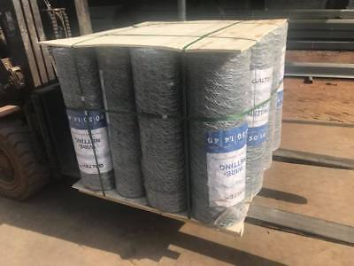 CHICKEN WIRE MESH Netting 900mm x 10m roll - 50mm HEX holes - $24 00