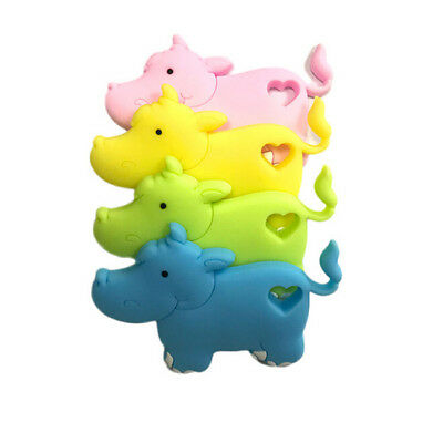 Creative Hippo Shape Teether Baby Comfort Soft Teething Toy Appease Gift  B