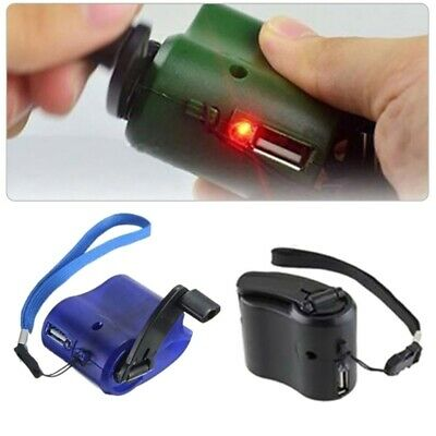 Emergency Survival Gear Hand Crank Camping SOS Phone USB Charger Power US