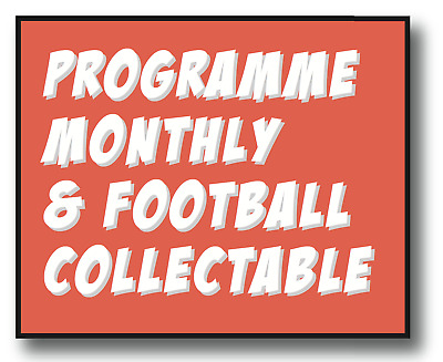 1St Copy Free! - Programme Monthly & Football Collectable Annual Subscription