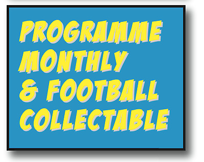 1St Copy Half Price! - Programme Monthly & Football Collectable 6-Month Sub