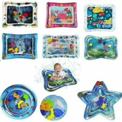 Inflatable Fun Water Play Mat for Kids Baby Children Infants Best Tummy Time loq