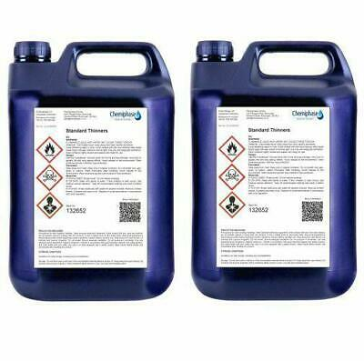 2 x 5 LItres of Standard Thinners Gun Wash Parts Cleaner Paint Thinner Cellulose