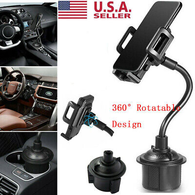 Universal Adjustable Car Mount Gooseneck Cup Holder Cradle for Cell Phone iPhone