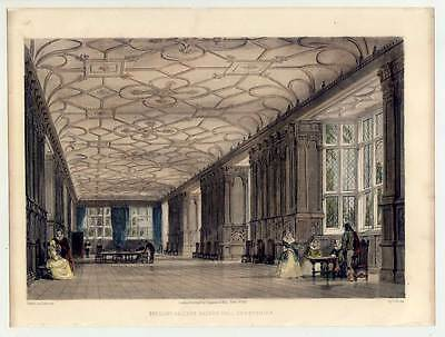 Haddon Hall Derbyshire - Lithographie 1847