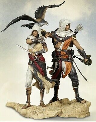 Assassin's Creed Origins: Bayek and Aya Figurines NEW SEALED HIGH 32 and 27 cm