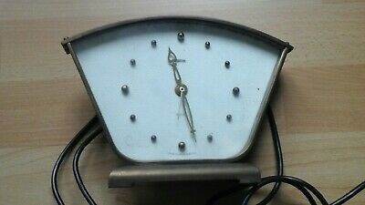 Rare? Vintage Smiths clock. brass.patent 1950 1960s working electric clock