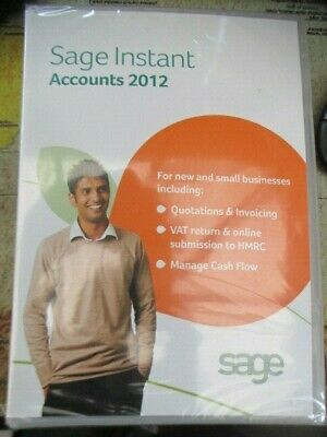NEW SEALED Sage Instant Accounts 2012 New & Small Businesses Includes Key & Code