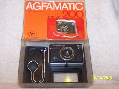 Agfamatic 200 Vintage 126 Camera In Original Box, W/ Accessories. C.1972