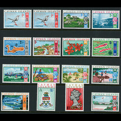 CAYMAN ISLANDS 1969 Set of 16 Values. SG 222-237. Mint Never Hinged. (W0782)