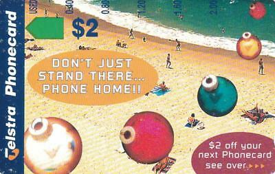 Telstra  $2 Bondi Beach Mint Extremely Rare In Mint Note The Blue Around Telstra