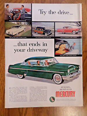 1953 Mercury Monterey Ad Try the Drive That ends in Your Driveway
