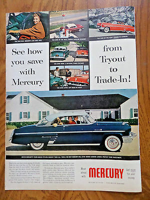 1954 Mercury Monterey Coupe Ad How you Save from Tryout to Trade-In