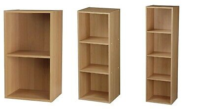 2/3/4 Tier Kids Bookcase Books Storage Shelf Wooden Shelves Display Rack Oak New