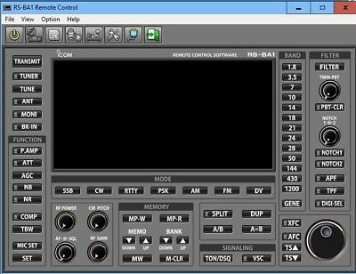 ICOM RS-BA1 software for IC-7000,7100,7300,7600,9100,746/pdf Manual included