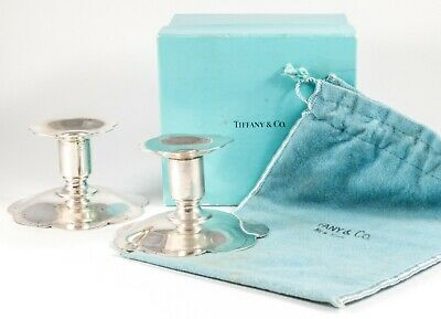 TIFFANY & CO MAKERS Sterling Silver Candlesticks