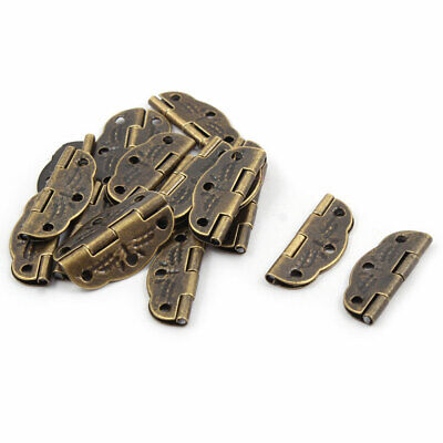 Jewelry Gift Box Case Vintage Style Hinges Bronze Tone 31mm x 22mm 16 PCS