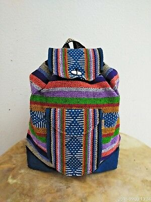 Backpack , Hippie Gear , Mexican Made , Surf Gear , Beach Bag Pinzon , Teal
