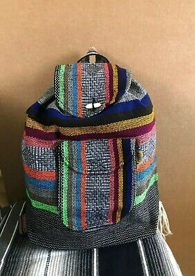 Backpack , Hippie Gear , Mexican Made , Surf Gear , Beach Bag Pinzon ,gray Mix