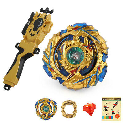 Metal Fusion 4D Spinning Top B-79 with Grip Launcher Toy Set for Kids Adults