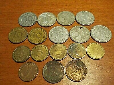 Mixed Lot of Circulated Coins from Germany    Mix lot of Third Reich Coins