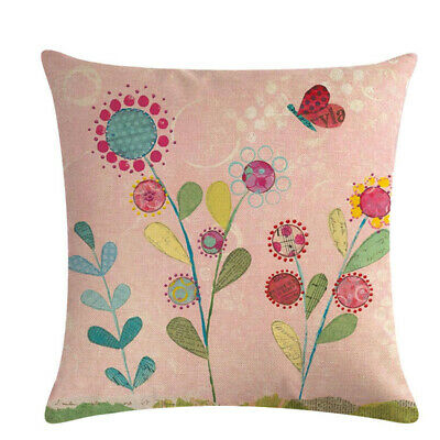 New Couch Summer Flower Kids Bedroom Cushion Cover Home Decorative Pillowcase L