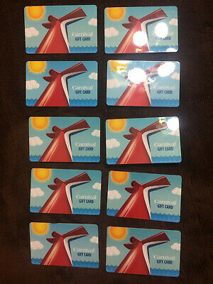 "Carnival Cruise Line Gift Card ""ZERO VALUE""  Preowned Lot of 5 Cards"